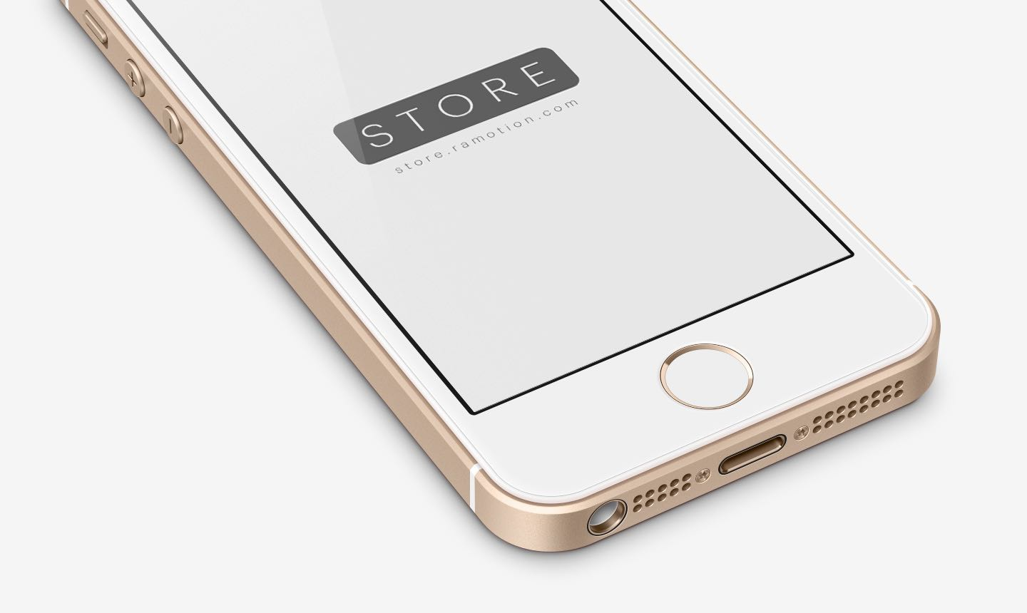 White Iphone Se Mockup Psd By Ramotion Dribbble
