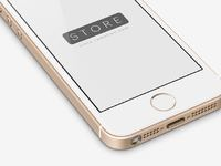 3 iphone se mockup template perspective view left gold psd