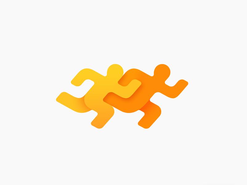 Fitness app logo design ramotion
