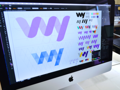 WY Logo Exploration - Branding business logotype logo fast secure bank account money transfer financial operations finance grid system branding brand book web application multiplatform ux ui