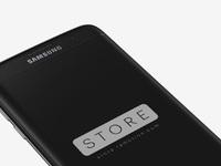 Samsung galaxy s7 edge black onyx perspective psd
