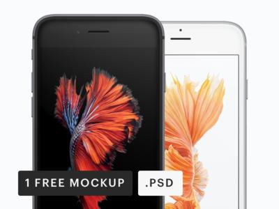 iPhone Frontal Mockup [PSD]