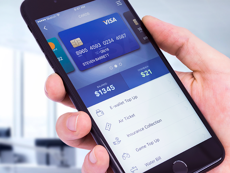 Banking App Design - Cards UX/UI online service iphone 7 simplicity usability security user experience interactions transitions credit debit cards ux ui banking app