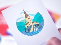 Bled Lake Illustration Print