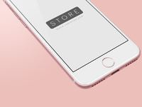Iphone 7 rose gold perspective psd