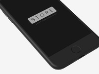 4 iphone clay black perspective psd