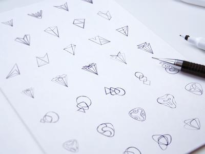 Logo Design Sketching Phase