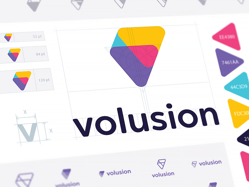volusion brand guide wip by ramotion dribbble