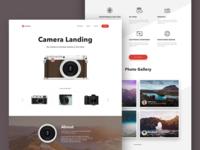Camera Landing Page Layout