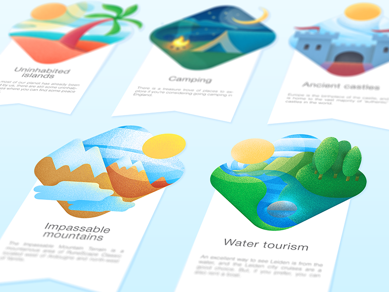 Travel illustrations process ramotion s