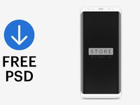 Samsung clay frontal free mockup psd
