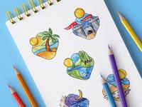 Travel Illustrations [Skething Phase]