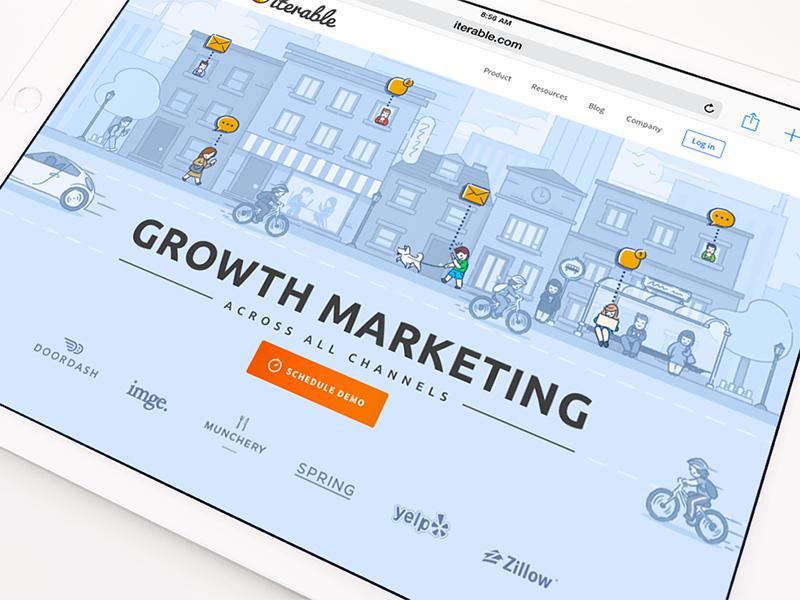 Marketing website illustration ramotion
