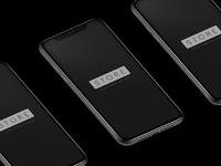 Iphone x black isometric mockup