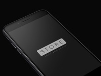 Iphone 8 black perspective mockup psd