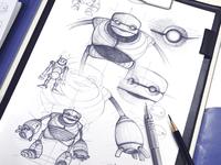 Robot Mascot Sketches