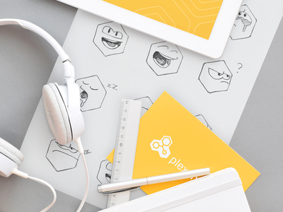 Plexchat Emoji Sketches illustration design code gaming theme icon artwork iconography graphic mascot sketch illustration shape emotions hand sketch traditional art brand identity ios app design in-app support