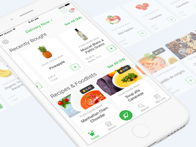 Food Deliver iOS App Design
