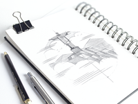 Rio De Janeiro Illustration Sketching Phase