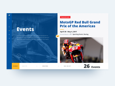 AAP Events Web auto theme event landing page concept simple navigation pictogram icon set adaptive design system user experience web automotive retailer product responsive design layout ux ui user experience e-commerce product