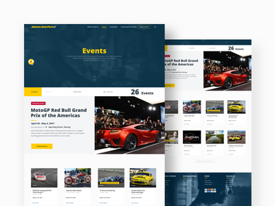 AAP Events Landing Page Concept auto theme event landing page concept simple navigation pictogram icon set adaptive design system user experience web automotive retailer product responsive design layout ux ui user experience e-commerce product