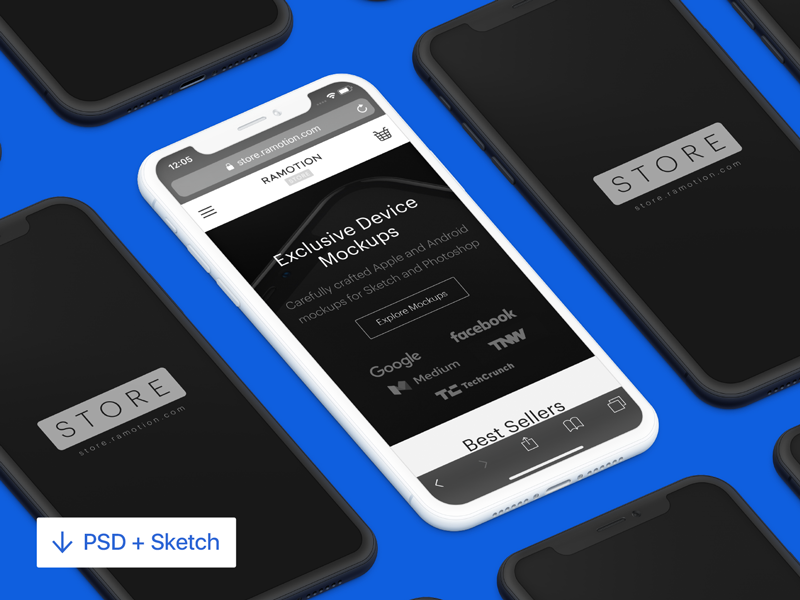Isometric iPhone X Mockup [PSD + Sketch] psd sketch download white device template ux ui mockup photoshop sketch black mobile application marketing interface design templates front frontal render apple clay angle perspective isometric devices google screens app isometric screenshots mockups appstore vector 8