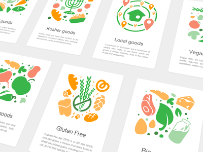 Nelio Food Preferences Illustrations app workflow icons food preference location clean interface mobile app experience interactive prototype static illustration design food delivery application mobile app design user experience user interaction ux ui workflow brand user interface