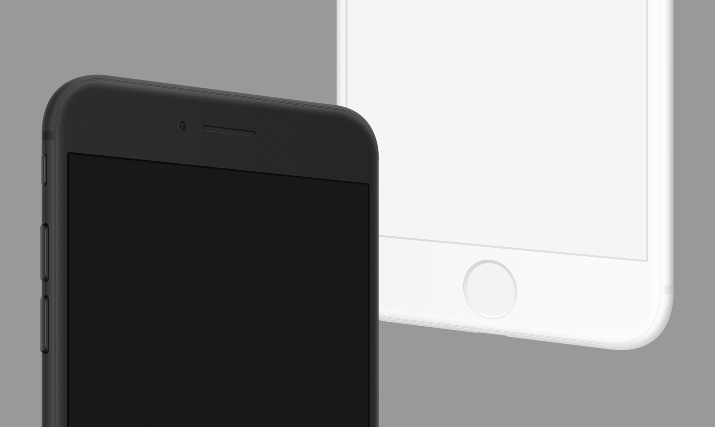 Iphone 8 clay black white frontal portrait left right psd