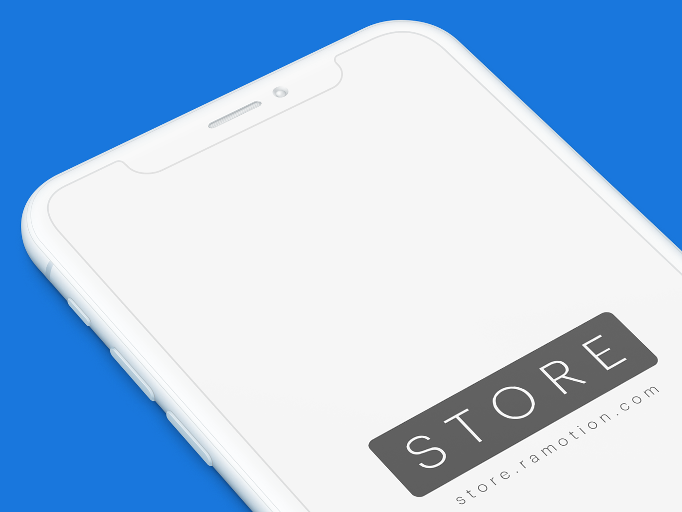 Iphone x clay perspective mockup psd sketch