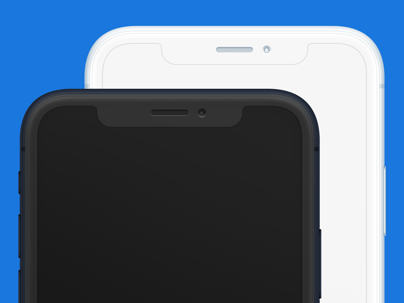 Iphone x clay frontal mockup psd sketch