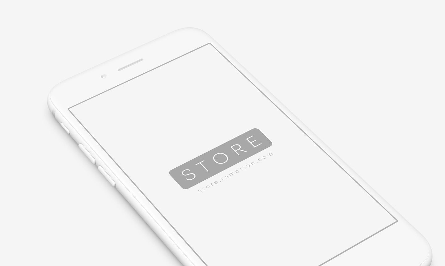 3 iphone clay white perspective psd
