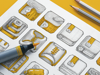 Fitness App Icon Sketches