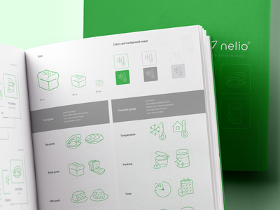 Nelio Pictograms Design System ux ui workflow user interface user interaction user experience mobile app design food delivery application stroke outline style mobile app experience clean interface icons pictogram set app workflow