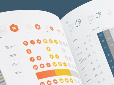 Plexchat In-app Icons Design System illustrations icon design design system icon artwork iconography graphic consistent shape hand-drawn shapes icons outline solid branding guide brand identity ios app design in-app support