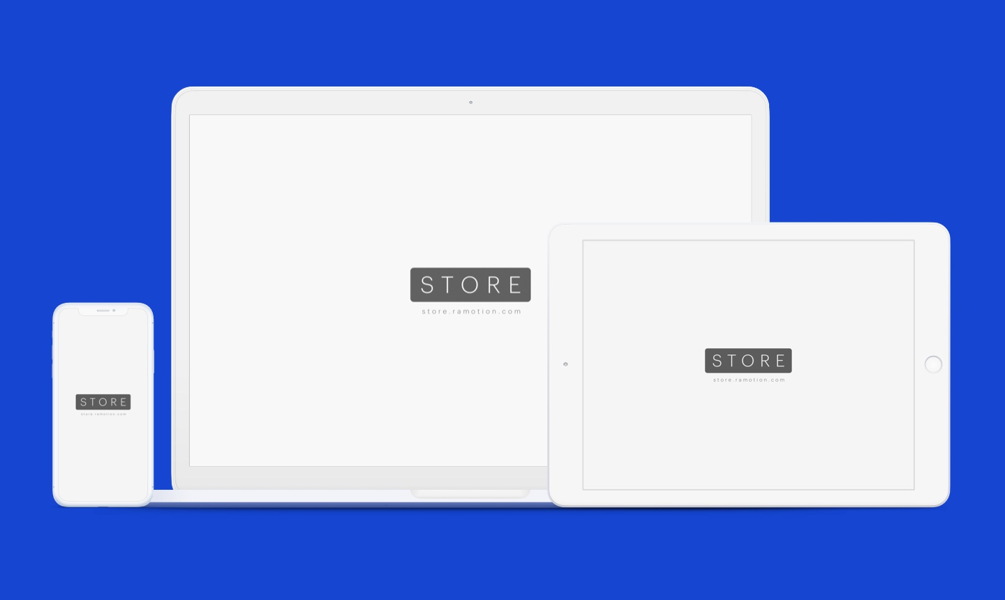 Iphone macbook frontal ipad landscape clay white mockup sketch