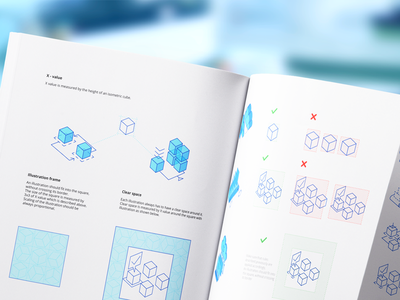 Mobingi Illustrations Design Guideline branding shapes design guideline brand company assets illustration design use identity brandbook brand patterns isometric shape design clear space branding ramotion style guide geometrical shapes