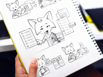 Iterable Mascot Sketches