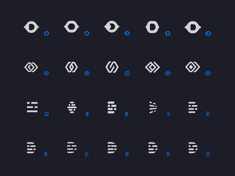 Descript logo options early stage exploration