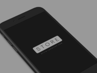 Iphone 8 clay black white perspective psd