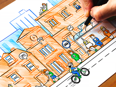 Hand-drawn Illustration WIP illustrations guidelines pictogram drawn set website illustration elements hand-drawn sketch art consistency mobile online service hand-drawn characters color palette brand style guide design system