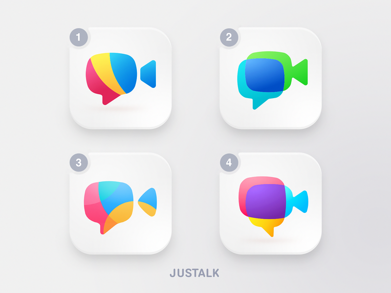 App Icon Options camera identity brand style branding ios app bright colors app icon icons mobile app design video meeting application video conference call friends chat call