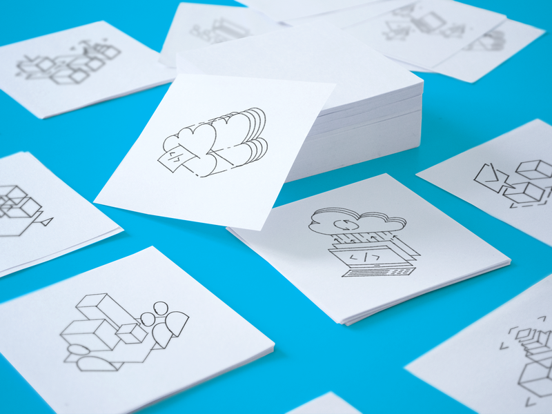 Mobingi Simple Hand-drawn Illustrations design logo icon website supportive illustration brand identity simple illustration metaphor hand-drawn art exploration branding shapes brand company assets branding ramotion style guide geometrical shapes