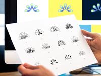 Logo Sketches & Color Exploration