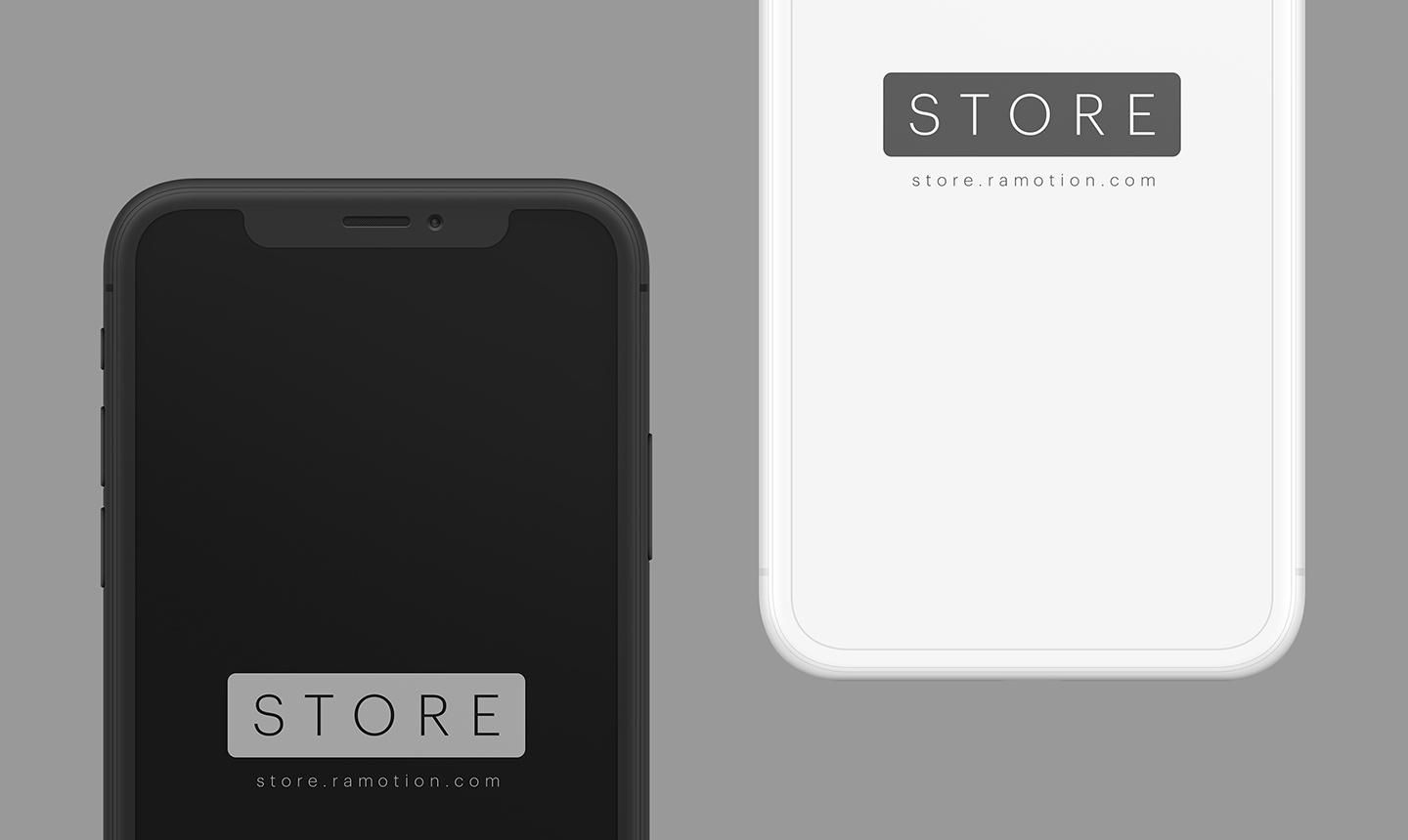 Iphone x clay black white frontal psd