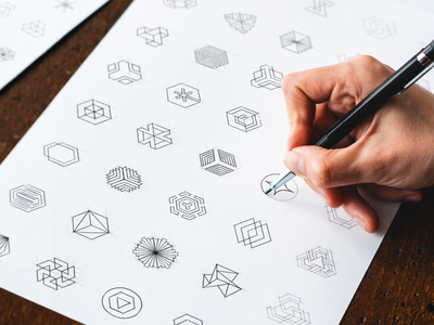Cryptocurrency Exchange Logo Sketches