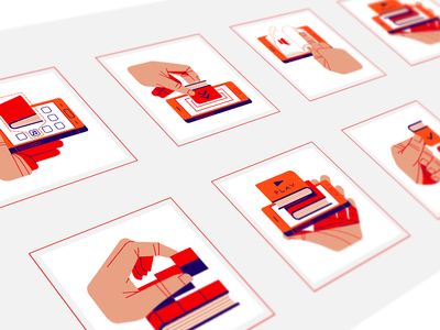 Brand illustrations for an audio books service branding design inspiration application icon marketing icon logo designer visual identity icon design hand logo cool icons icons ui style guide flat logo design simple logo illustration vector illustration tech logo app icon flat illustration
