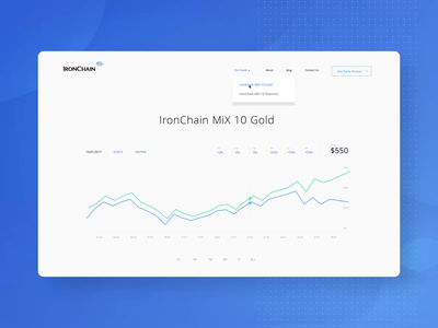 IronChain Header Animation ui ux layout site transition parallax single interactive scrolling marketing website animation landing page concept javascript interface interaction cryptocurrency index website clean frontend development