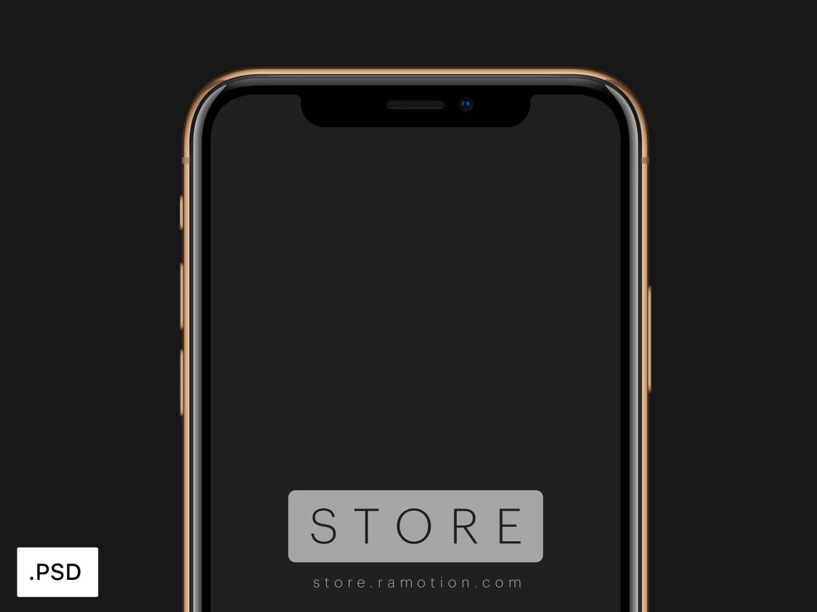 Iphone xs gold mockup