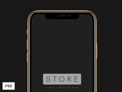 iPhone XS Golden Mockups