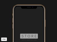 iPhone XS Gold Mockups